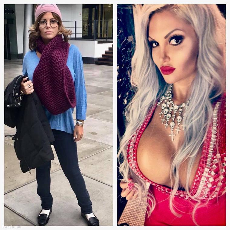 Ezt a két fotót így egymás mellé téve posztolta Sophia Wollersheim német modell a Facebookjára