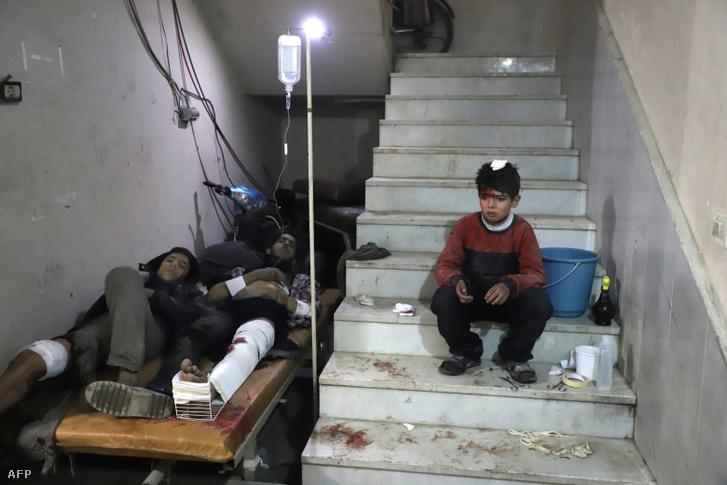 Sebesültek Kelet-Gútában február 21-én