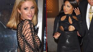Paris Hilton pucérruhában, Toni Braxton mell alatt lyukas bőrszerkóban ment Rihanna születésnapjára