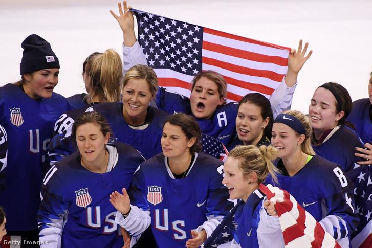 A győztes amerikai csapat