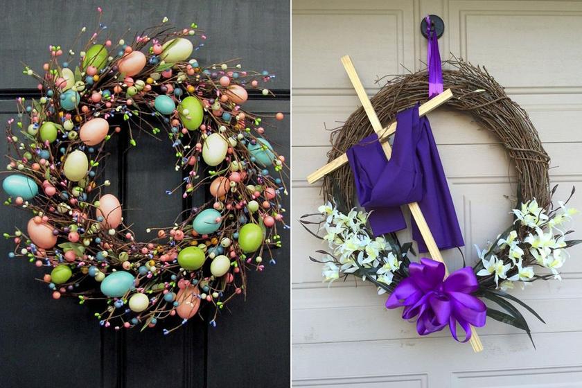 Álomszép húsvéti ajtódíszek fillérekből, melyeket bárki elkészíthet - Mutatós darabok egyszerűen