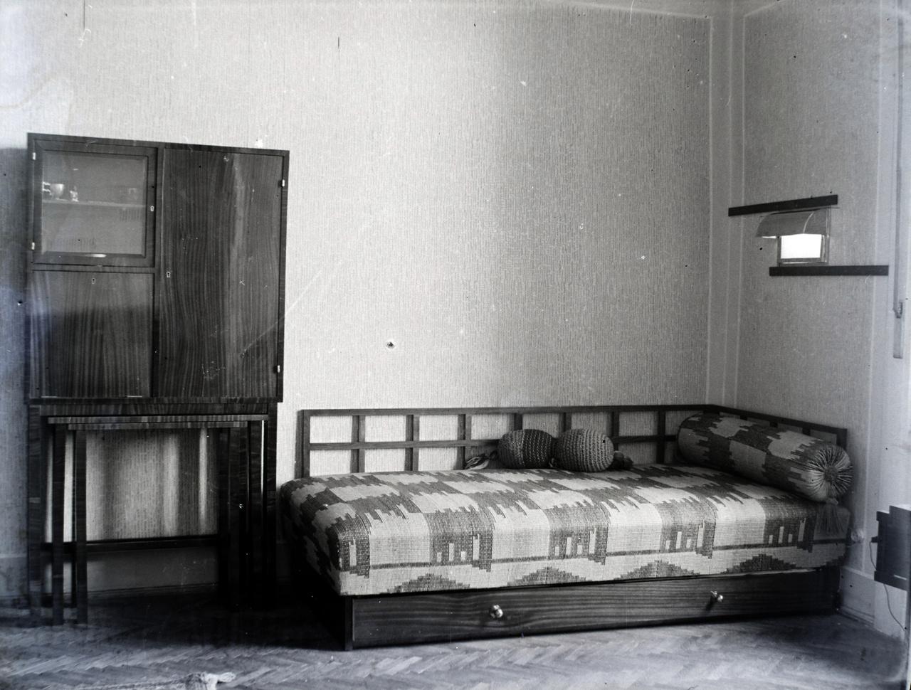Kurtz Auguszta szobája a Fő utcai lakásban.