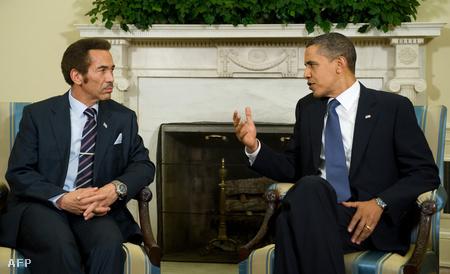 Ian Khama és Barack Obama találkozója a Fehér Házban, 2009. november 5-én. (Fotó: Saul Loeb)