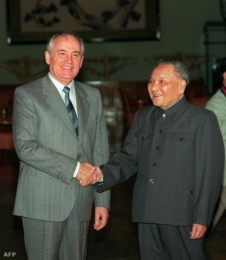 Mihail Gorbacsovval, az SZKP főtitkárával