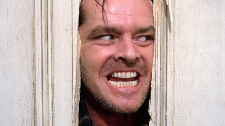Jack Nicholson a Ragyogás c. filmben