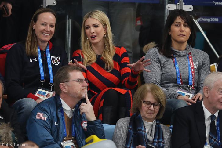 Ivanka Trump a Curling döntőn