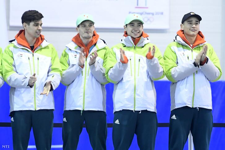 Burján Csaba, Knoch Viktor, Liu Shaoang és Liu Shaolin Sándor