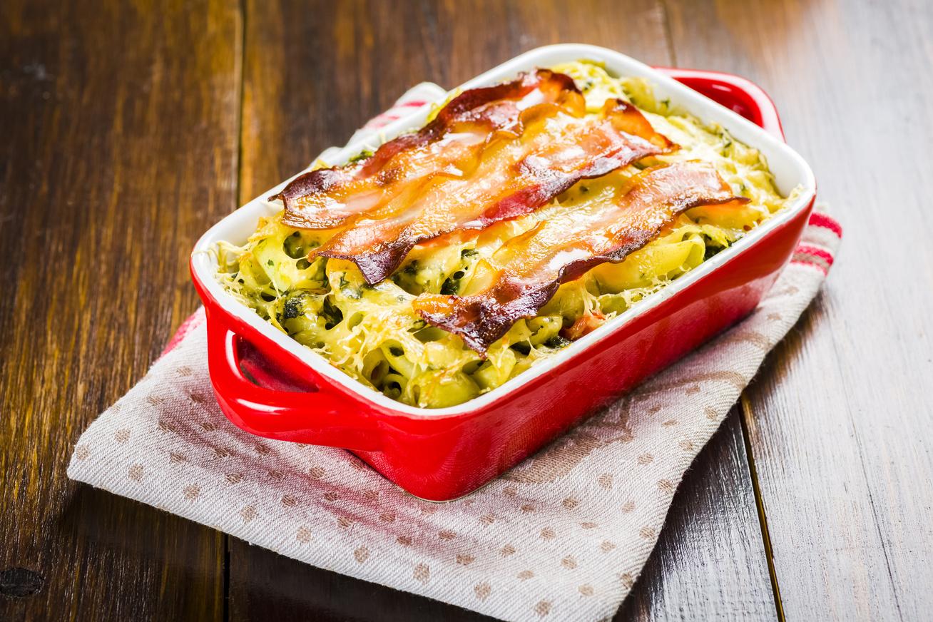 Spenótos, baconös rakott tészta - Ebből kétszer fogsz szedni