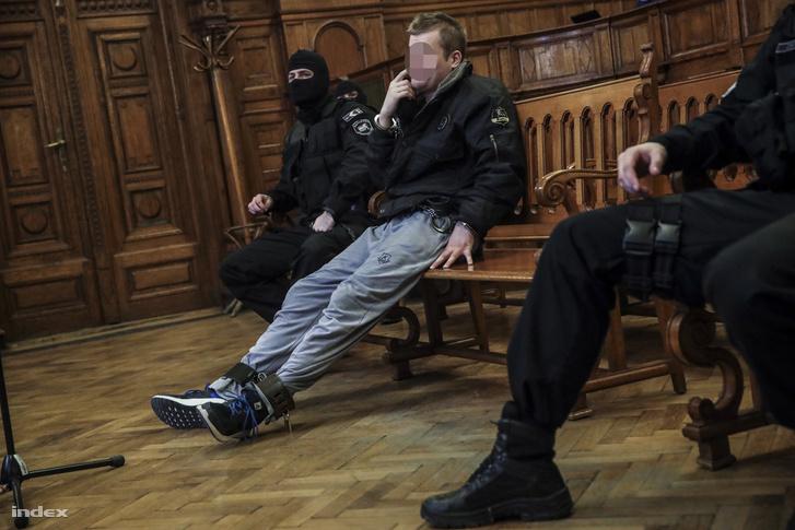 Teréz körúti robbantás feltételezett elkövetője a Budai Központi Kerületi Bíróságon 2018. február 7-én.