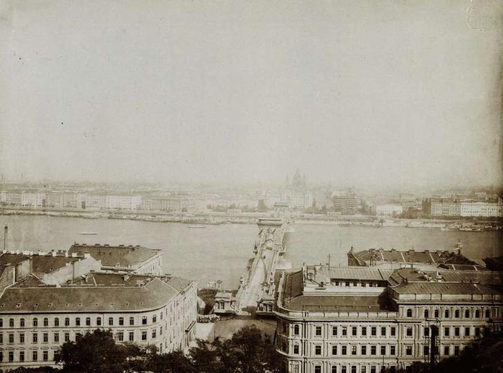 Kilátás az alagút tetejéről, 1900