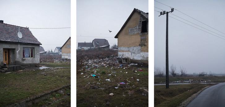 """Sajószentpéter: egy rendben tartott udvar, a szomszédja, és a """"lerakó"""" a töltés mentén"""