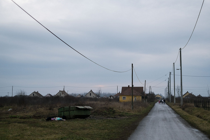 Konténer a bűdi telepen Tiszavasváriban