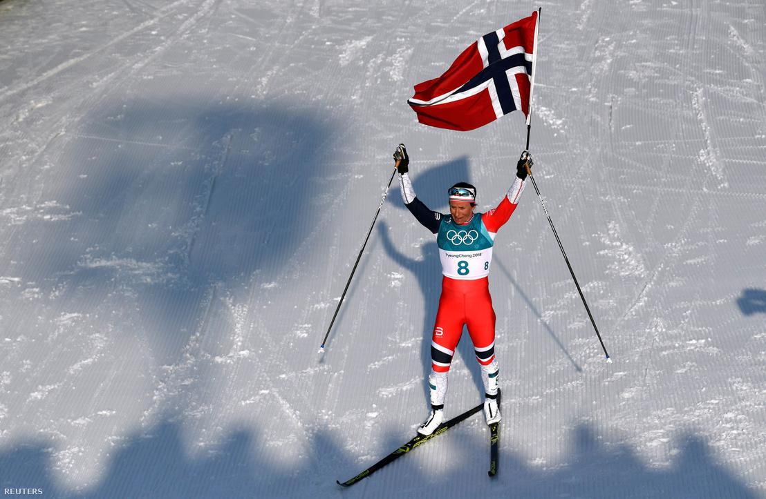 Marit Björgen minden idők legsikeresebb téli olimpikonja: 8 arany, 4 ezüst, 3 bronz