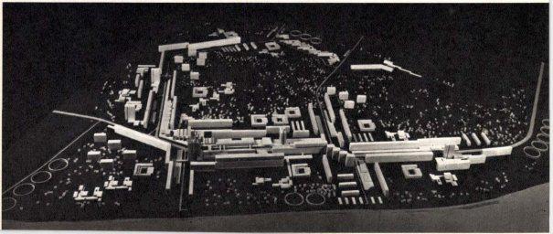 A Káposztásmegyeri lakótelep 1967-ben első díjat nyert makettje (Tenke Tibor, Callmeyer Ferenc, Mester Árpád)