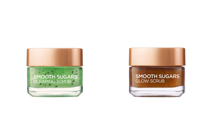 A L'Oréal új Smooth Sugars cukormaszkjai az arc és az ajkak radírozására alkalmasak. A Clearing Scrub mitesszerek ellen hatásos, míg a Glow Scrub ragyogóvá teszi a bőrt. 2999 forintért veheted meg őket.