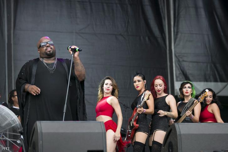 Cee-Lo Green és csak nőkből álló zenekara 2014-ben a Szigeten