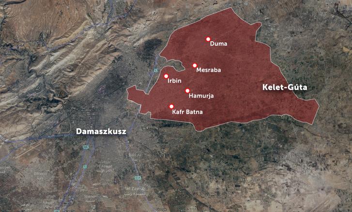 A térképen a február végén ostrom alá vett nagyobb településeket jelöltük.
