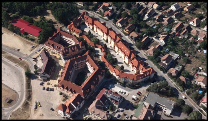 Fótújfalu városias beépítése