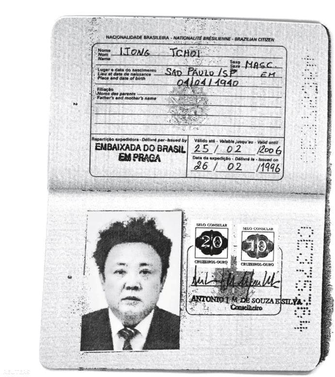 Kim Dzsongil hamis útlevele