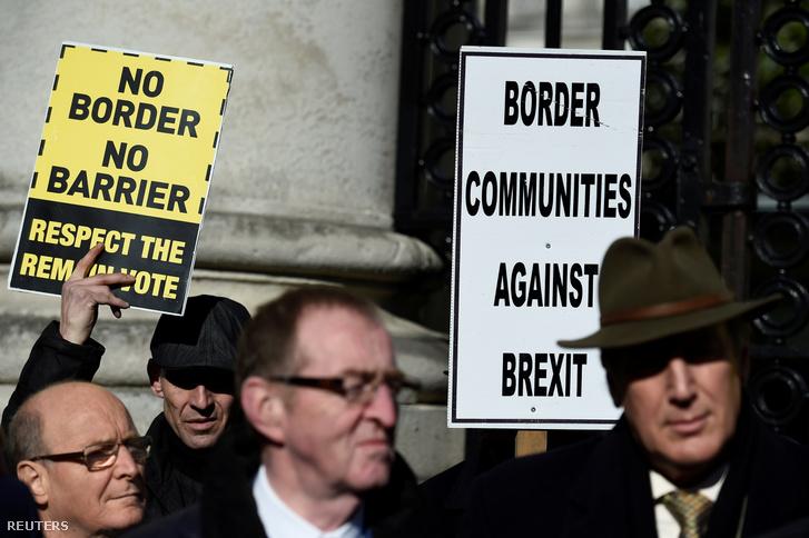 A brexit ellen tüntetők Dublinban 2017. április 25-én