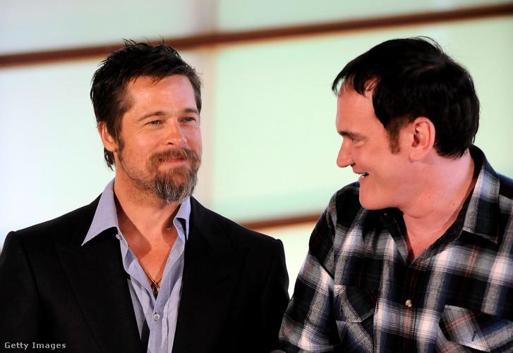 Brad Pitt és Tarantino