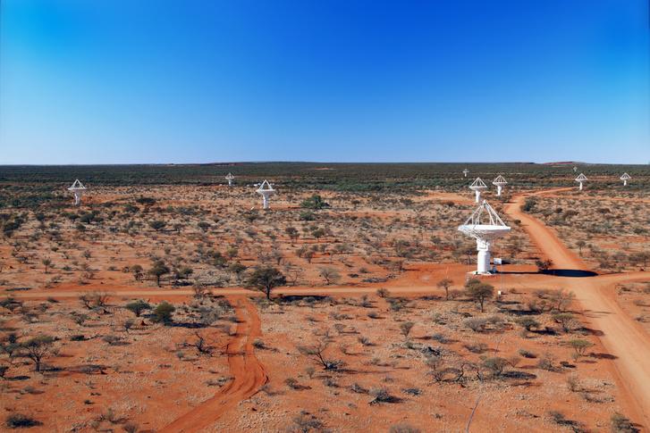 A Murchison Rádiócsillagász Obszervatórium antennái