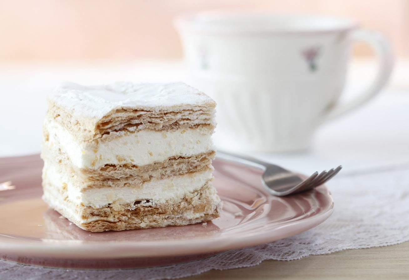 Réteges vaníliás krémes leveles tésztából - Dupla élvezet