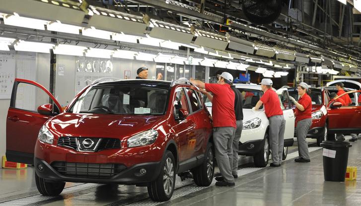Termelés a Nissan sunderlandi üzemében