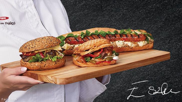A reklámban szereplő négy szendvics