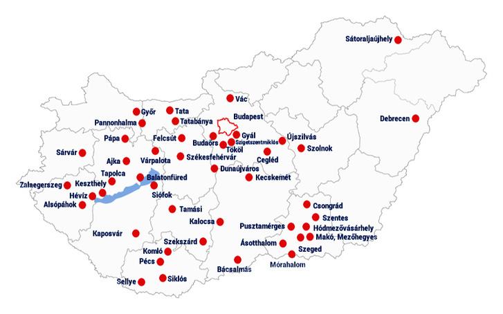 2016-os térkép az Elios referenciáiról