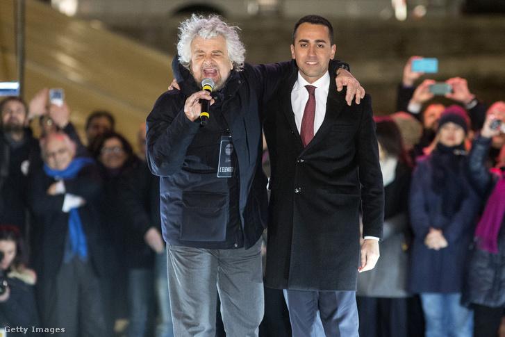 Beppe Grillo és Luigi Di Maio