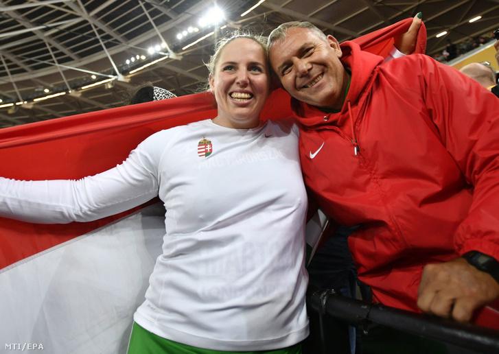 Márton Anita és edzője, Eperjesi László 2017. augusztus 9-én.