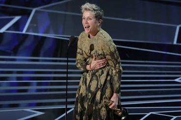A legjobb színésznő díját Frances McDormand nyerte a Három óriásplakátért.