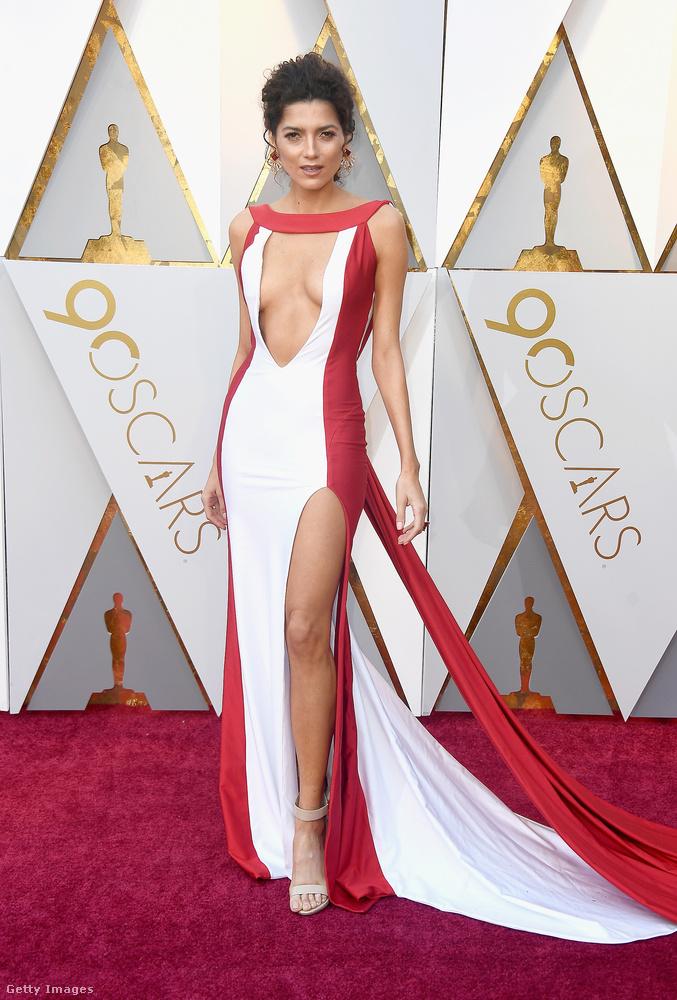 Blanca Blanco színésznő elég merész ruhát választott az eseményre.