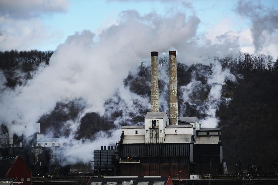 Az US Steel gyára Clairtonban 2018. március 2-án