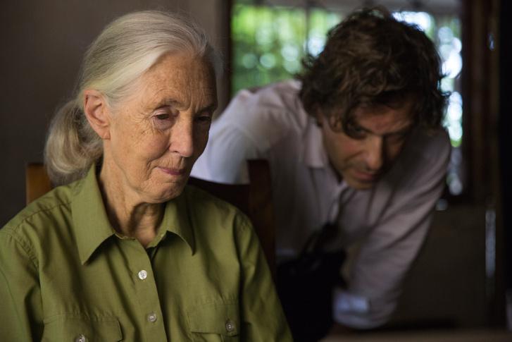 Jane Goodall és a film rendezője Brett Morgen