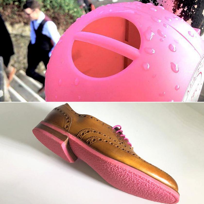 A szelektíven gyűjtött rágógumiból cipőtalp is lehet.