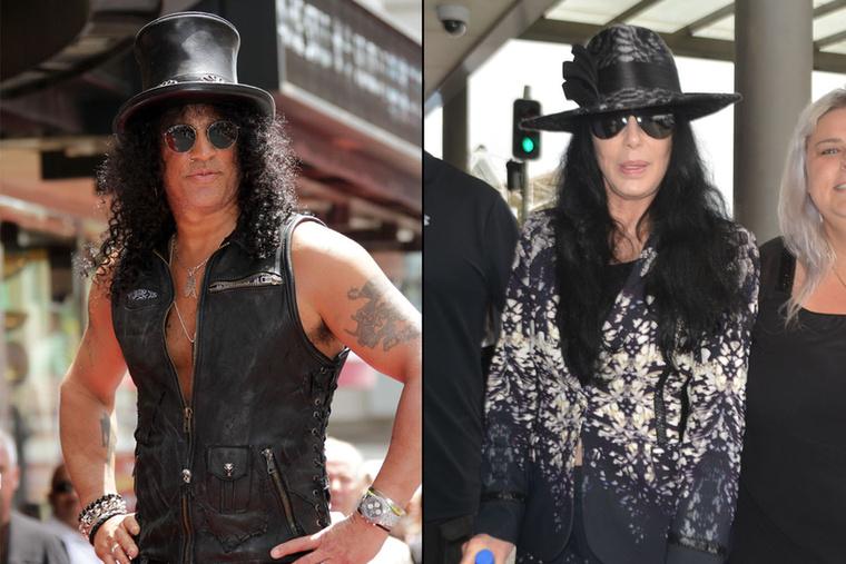 Azt is hozzá kell ám tenni, hogy az énekesnő az évek előrehaladtával változott át olyanra, mint a fiatal Slash, szóval szinte megfiatalodott
