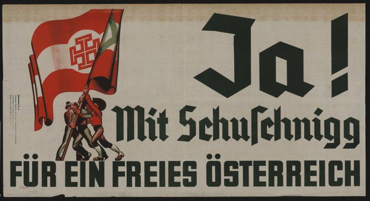 Népszavazási propagandaplakát 1938 márciusában.