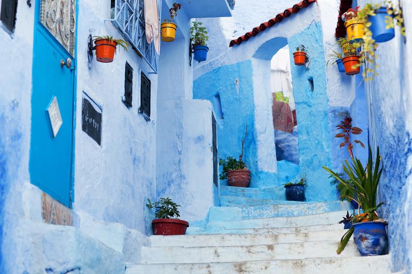 Egy hely, ahol minden kékre van festve: a turisták imádják a kék várost