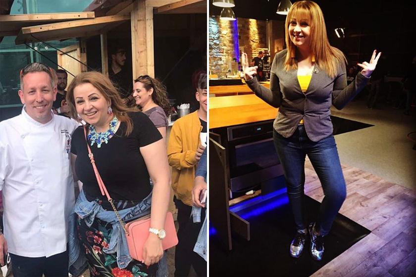 A bal oldali kép 2017 májusában készült, ott még Bea alkata sokkal erősebb volt, a jobb oldali, friss fotón viszont látszik az életmódváltás eredménye.