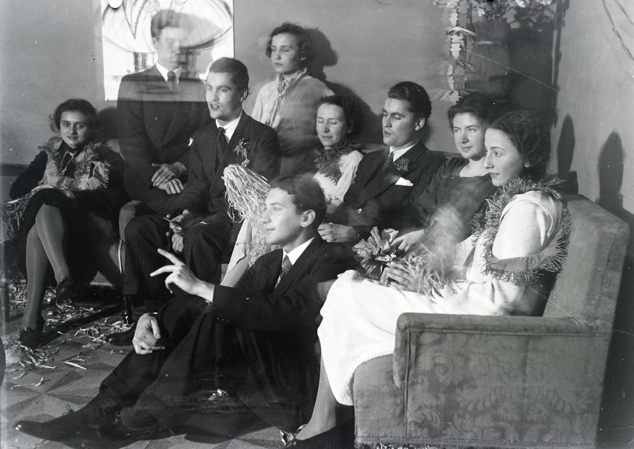 Vinkler László ösztöndíjas társaival a Római Királyi Akadémiában 1936-ban.