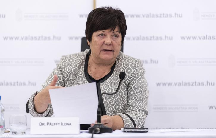Pálffy Ilona, a Nemzeti Választási Iroda (NVI) elnöke