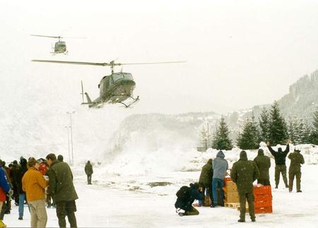 Osztrák katonai helikopter (forrás: Bundeswheer)
