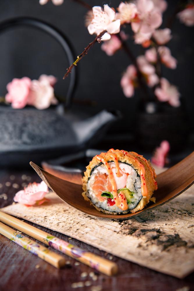 Meglepő, de a sakura a sós ízvilágban is helyet kap, bátran használják töltelékként a sushiban...