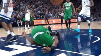 Lefagyott a lelátó, akkorát nyekkent az NBA-s