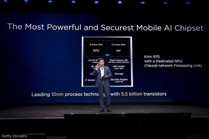A Huawei bemutatója a 2018-as CES-en