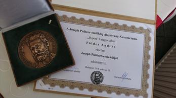 Pulitzer-emlékdíjat kapott az indexes Földes András
