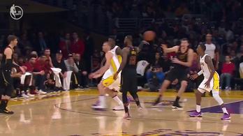 Az egész Lakersből hülyét csinált LeBron egy csuklómozdulattal