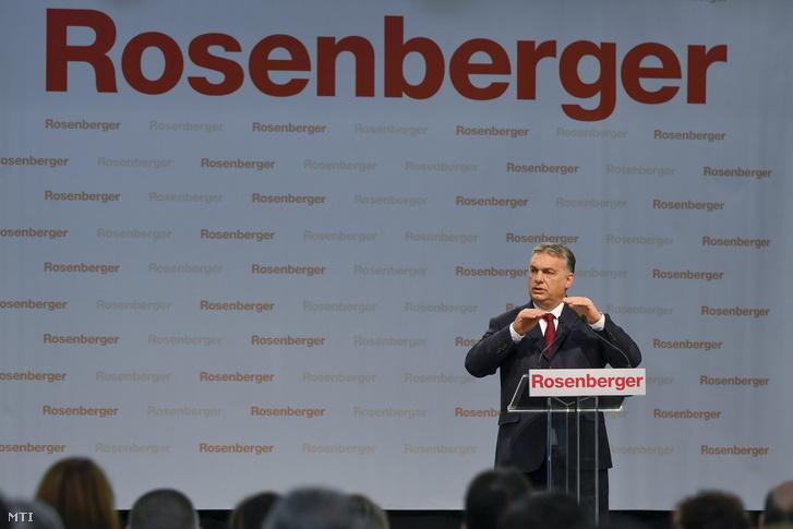 Orbán Viktor miniszterelnök beszédet mond